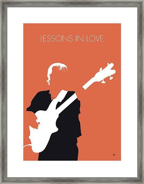 No213 My Level42 Minimal Music Poster Framed Print