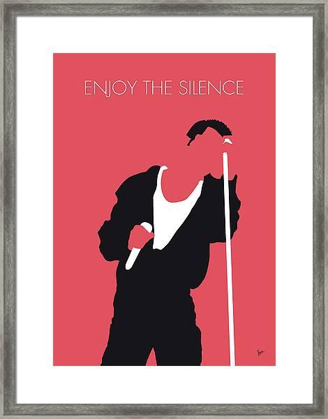 No242 My Depeche Mode Minimal Music Poster Framed Print