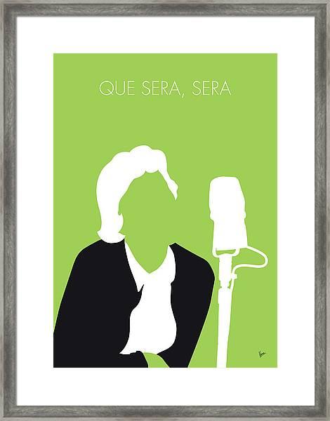 No266 My Doris Day Minimal Music Poster Framed Print