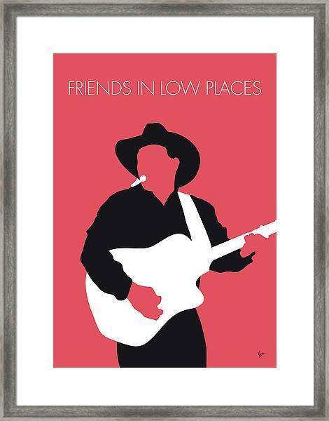 No272 My Garth Brooks Minimal Music Poster Framed Print