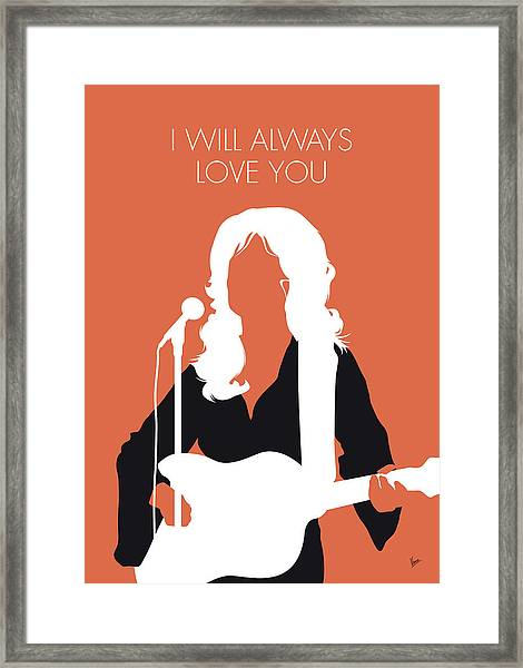 No273 My Dolly Parton Minimal Music Poster Framed Print