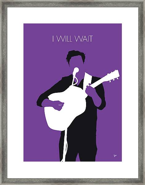 No291 My Mumford And Sons Minimal Music Poster Framed Print