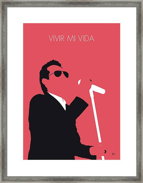 No292 My Marc Anthony Minimal Music Poster Framed Print