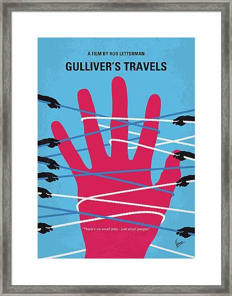 No967 My Gullivers Travels Minimal Movie Poster Framed Print