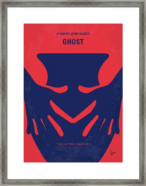 No971 My Ghost Minimal Movie Poster Framed Print