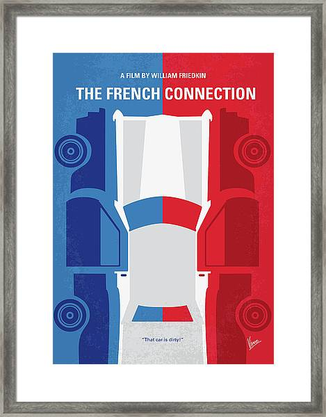 No982 My The French Connection Minimal Movie Poster Framed Print