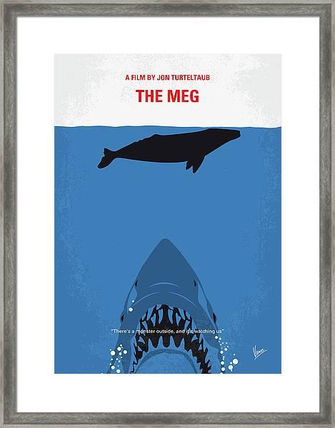 No985 My Meg Minimal Movie Poster Framed Print