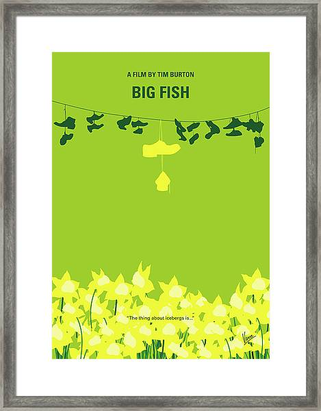 No993 My Big Fish Minimal Movie Poster Framed Print