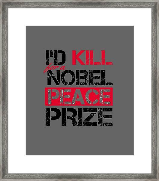 Nobel Prize Framed Print
