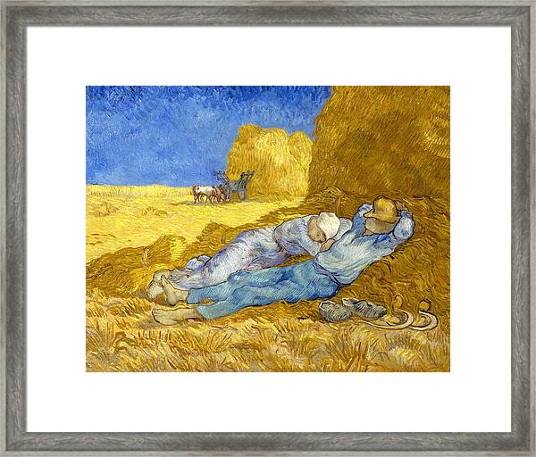 Noon-rest From Work - Digital Remastered Edition Framed Print