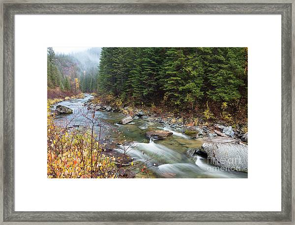 North Fork Of The St. Joe River Autumn Framed Print