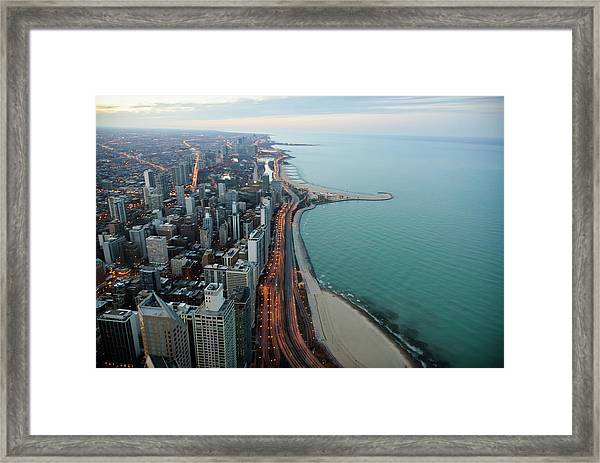 North Lake Shore Drive Framed Print by By Ken Ilio