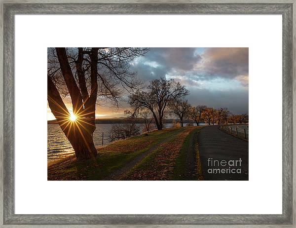 North Shore Sun Framed Print