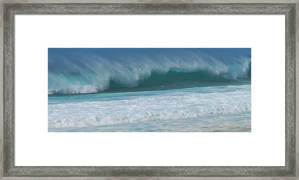 North Shore Surf's Up Framed Print