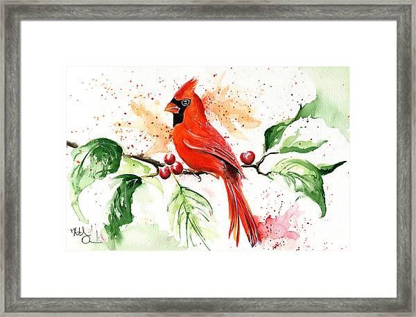 Northern Cardinal Framed Print