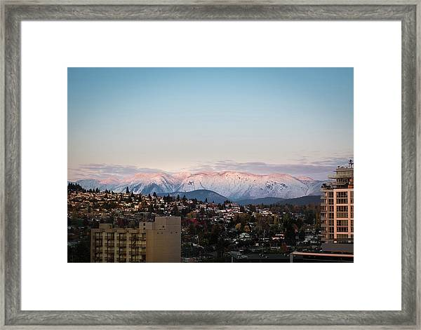Northshore Winterscape Framed Print