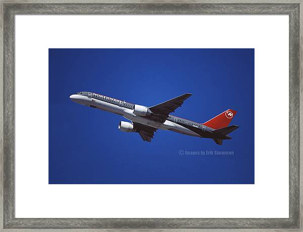 Northwest Airlines Boeing 757-251 Framed Print