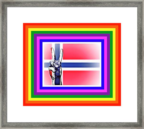 Norway World Peace Framed Print