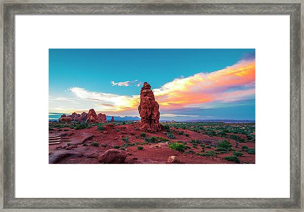 Not Just About Arches... Framed Print