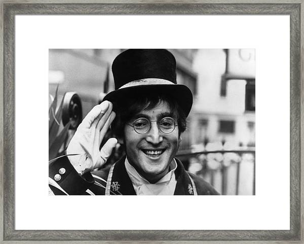 Not Only Lennon Framed Print
