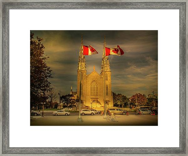 Framed Print featuring the photograph Notre Dame Basilica by Juan Contreras