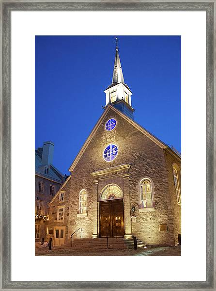 Notre-dame-des-victoires Framed Print by Fabiano Rebeque - Frebeque@yahoo.ca