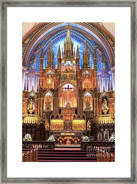 Notre Dame Interior Montreal Framed Print