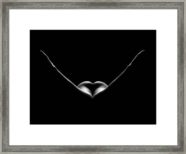 Nude Woman Bodyscape 27 Framed Print