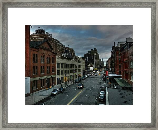 Framed Print featuring the photograph Nyc - High Line - Meatpacking District 002 by Lance Vaughn