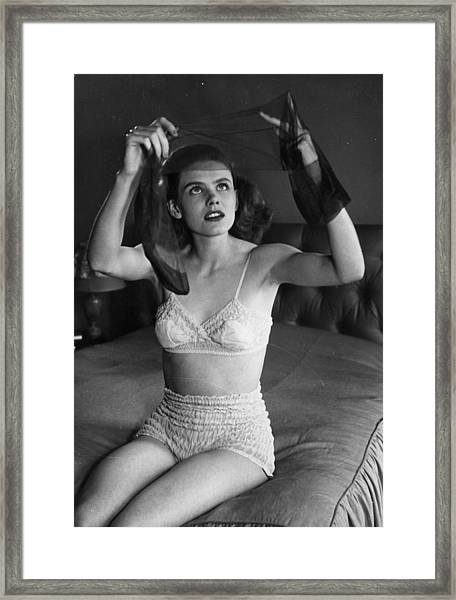 Nylon Stockings Framed Print