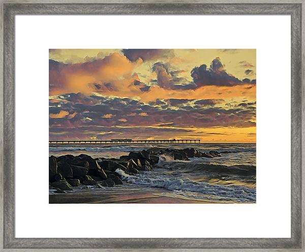 Ob Sunset No. 3 Framed Print