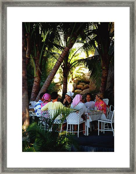 Oberons Lunch Framed Print