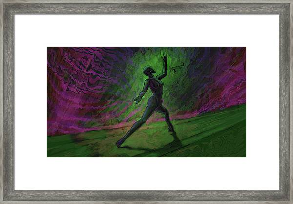 Obscured Dance Framed Print