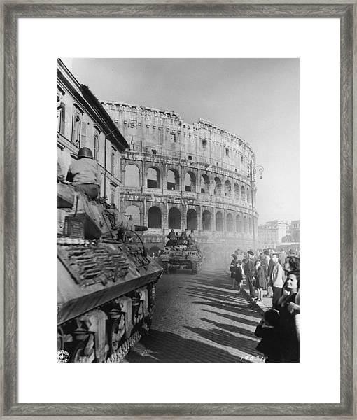 Occupation Of Rome Framed Print
