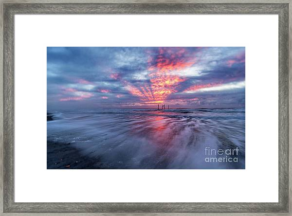 Framed Print featuring the photograph Ocean City Lights by DJA Images