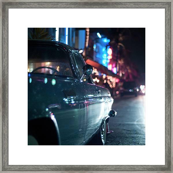 Ocean Drive, Miami Framed Print