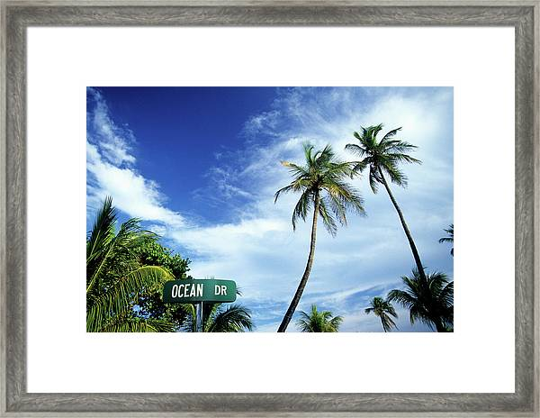 Ocean Drive, South Beach, Miami Framed Print