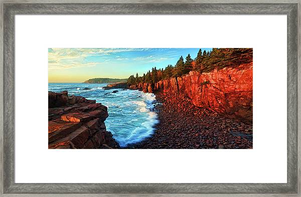 Ocean Energy Framed Print