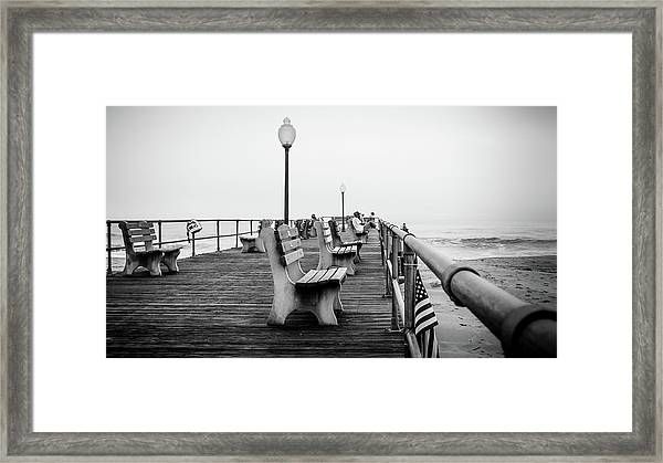Framed Print featuring the photograph Ocean Grove Pier 2 by Steve Stanger