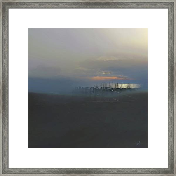Framed Print featuring the digital art Ocean Mist by Gina Harrison