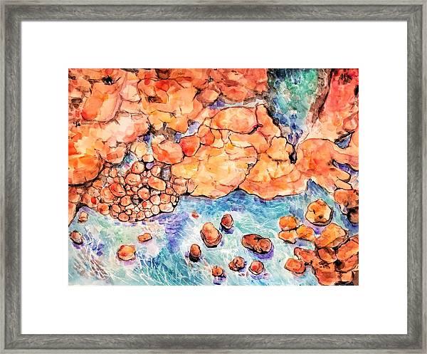 Ocean Rocks 2018 Framed Print
