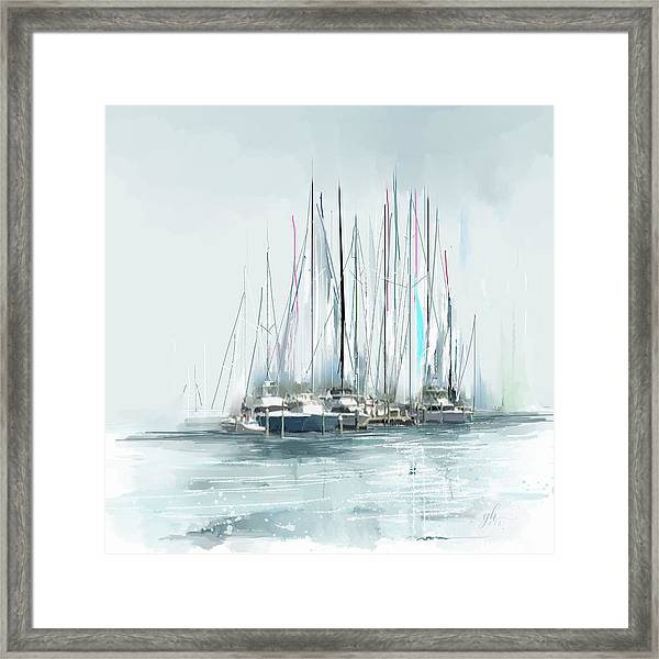 Framed Print featuring the digital art Oceana Idyll by Gina Harrison