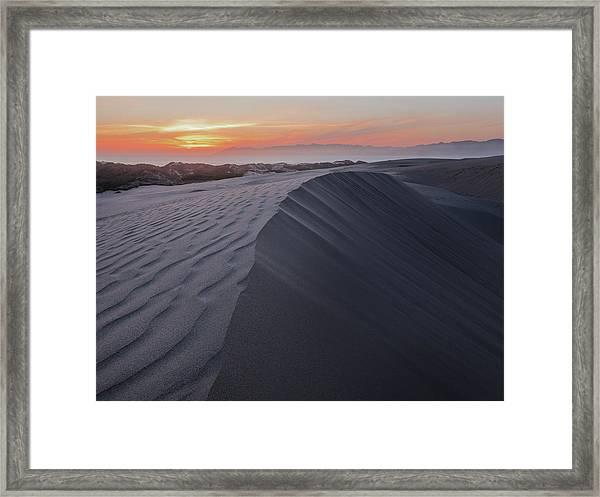 Oceano Dunes Sunset Framed Print