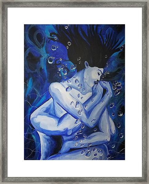 Ocean's Embrace  Framed Print