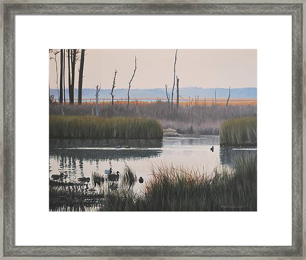 October Reflections Framed Print