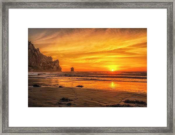 October Sunset Framed Print by Fernando Margolles