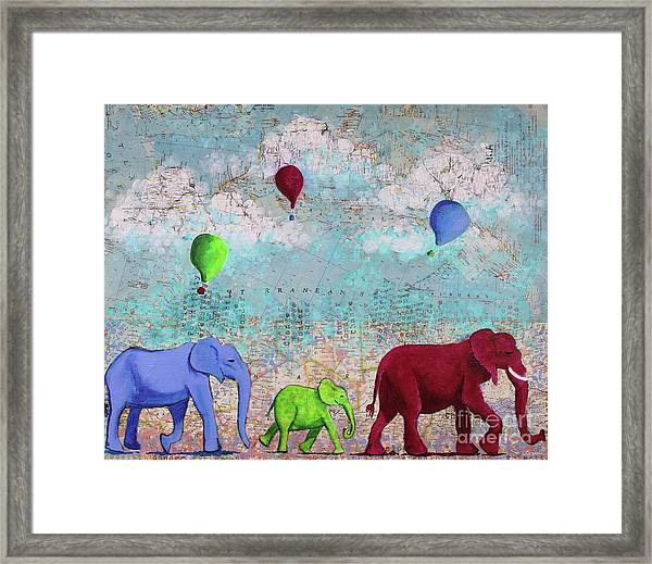 Oh The Places You'll Go Framed Print