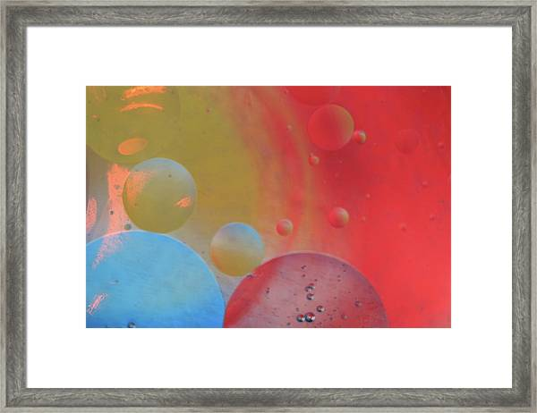 Oil And Color Framed Print