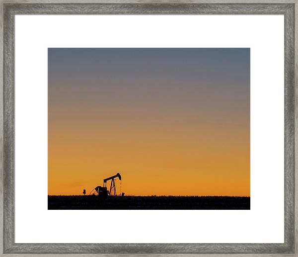 Framed Print featuring the photograph Oil Pump After Sunset 02 by Rob Graham