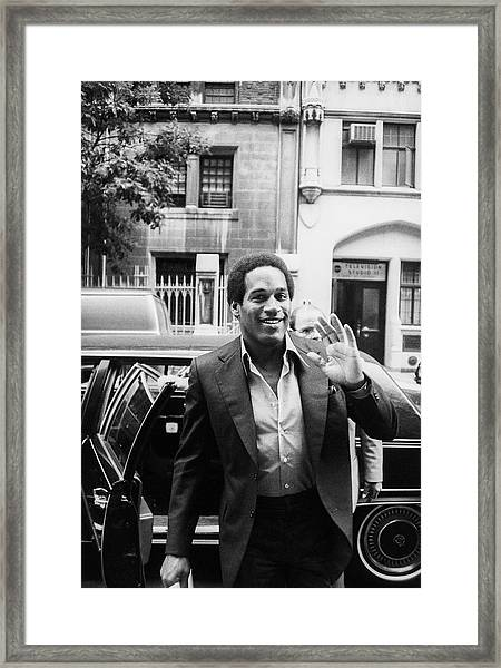 O.j. Simpson Framed Print by Art Zelin